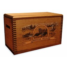 "Wooden Accessory Box With ""Wildlife Series"" Turkey Print"