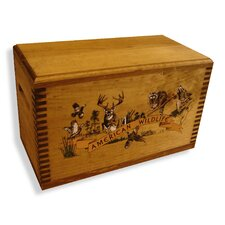 "Wooden Accessory Box With ""Wildlife Series"" Collage Print"