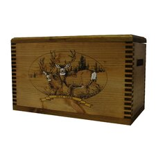 "Wooden Accessory Box With ""Wildlife Series"" Mule Deer Print"