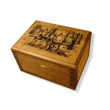 <strong>Evans Sports</strong> Mini Wooden Box with Two Bucks Print