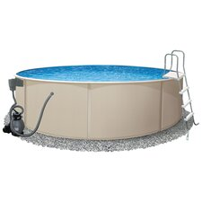 "Round 52"" Deep Rugged Steel Swimming Pool Package"