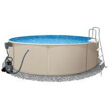 "Round 52"" Deep Rugged Steel Swimming Pool Package"