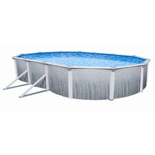 "<strong>Swim Time</strong> Oval 52"" Deep Martinique Wall Swimming Pool Package"
