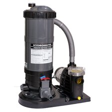 Hydro Cartridge Filter System with 1 Horse Power Pump for Above Ground Pool