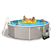 "4'Belize Round 52"" Deep, 6"" Top Rail Above Ground Pool Package"