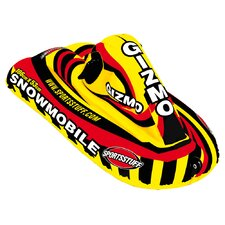 Extreme Snowmobile Rider in Yellow and Red