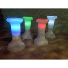 Adjustable Height In Pool Resin Stool with Remote Control LED Light