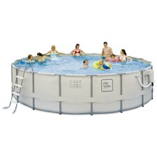 PRO Series Round Metal Frame Pool Package