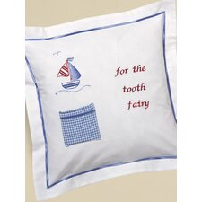 Sailboat and Seagull Tooth Fairy Cotton Pillow Cover with Tooth Pocket