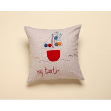 """My Tooth"" Living Life Cotton Pillow"