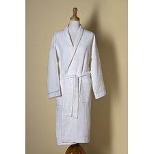 Waffle Weave Shawl Collar Bath Robe