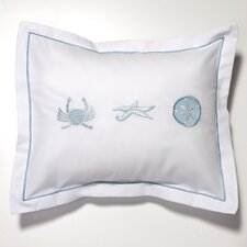 Crab, Starfish, Sand Dollar Cotton Boudoir Pillow Cover