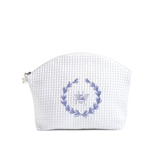 Bee Wreath Blue Cosmetic Bag
