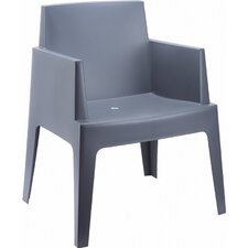 Box Resin Stacking Dining Arm Chair