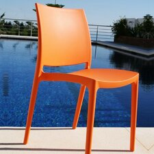 La Plaza Maya Stacking Dining Side Chair (Set of 2)