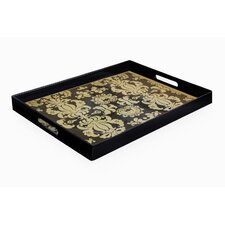 <strong>Accents by Jay</strong> Notions Fleur de Lis Rectangle Tray with Handles