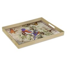 Notions Bluebird Rectangle Tray with Handles