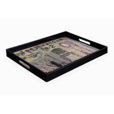Notion Moon Face Rectangle Tray with Handles
