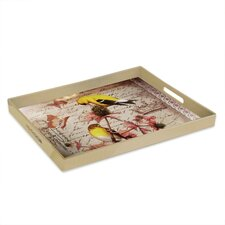 Notions Gold Finch Rectangular Tray