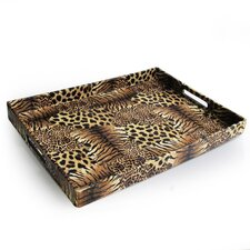 <strong>Accents by Jay</strong> Animal Patch Rectangular Serving Tray