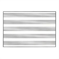 Graphics Markerboards - Music Staff Lines 4' x 12'
