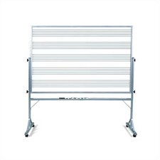 Freestanding Graphics Reversible Boards - Musical Staff Lines