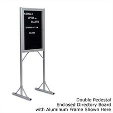 Double Pedestal Open-Face Directory Boards - Aluminum
