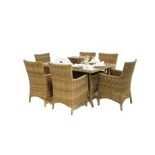 Winchester 6 Seater Rectangular Dining Chair Set