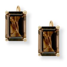 Gold Plated Smoky Quartz Earrings