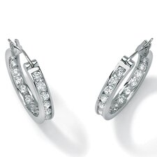 Platinum/Silver Cubic Zirconia Earrings
