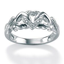 Platinum/Silver Diamond Accent Ring
