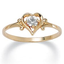 Birthstone Heart-Shaped Ring