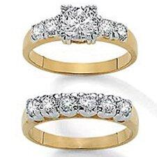 2 Piece Cubic Zirconia Bridal Set