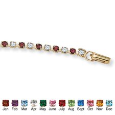 "7.25"" Gold Plated Birthstone Bracelet"