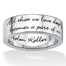 <strong>Palm Beach Jewelry</strong> Stainless Steel Inspirational Helen Keller Band