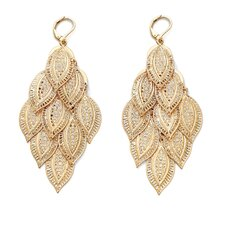 <strong>Palm Beach Jewelry</strong> Goldtone Filigree Drop Pierced Earrings