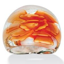Peach Glass Dome Ring