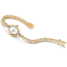 Goldtone Diamond Ultra Cubic Zirconia Watch