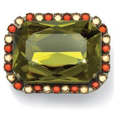 Goldtone Olive/Champagne/Amber Lucite Pin