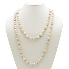 Lavender and White Cultured Pearl Necklace
