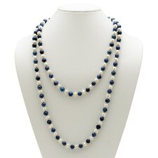 <strong>Palm Beach Jewelry</strong> Navy Blue and White Cultured Pearl Necklace
