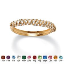 <strong>Palm Beach Jewelry</strong> Gold Plated Birthstone Cluster Stackable Ring