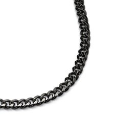 "30"" Black Ruthenium Men's Curb-Link Necklace"