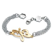 Stainless Steel Butterfly Multi-Chain Bracelet