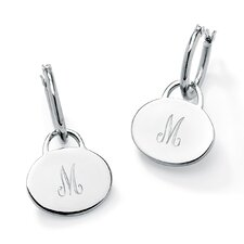 Personalized Disk Hoop Earrings