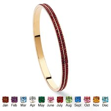 Gold Plated Double-Row Birthstone Bracelet