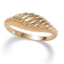 Gold Plated Classic Shrimp Ring