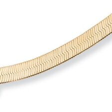 "18"" Gold Plated Superflex Herringbone Necklace"