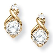 <strong>Palm Beach Jewelry</strong> Cubic Zirconia Earrings