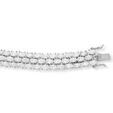 <strong>Palm Beach Jewelry</strong> Cubic Zirconia Sterling Silver Bracelet